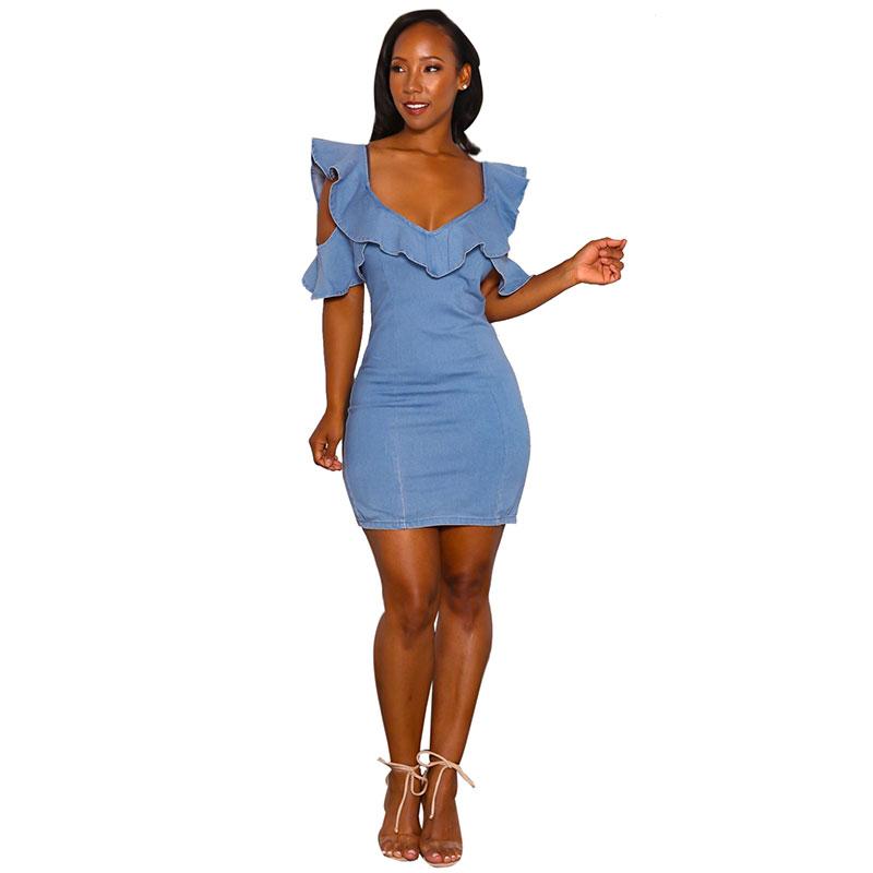 a71a0cbaf Venta al por mayor vestidos de vaquera dama-Compre online los ...