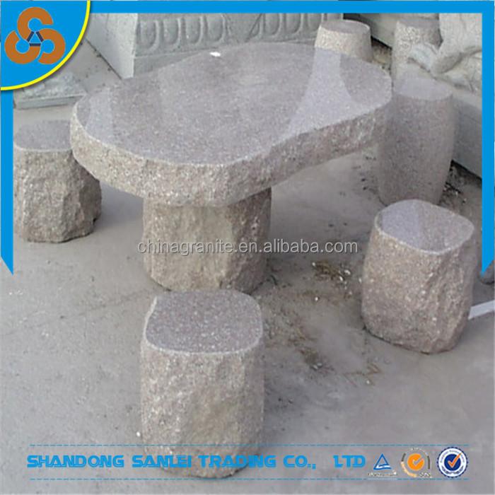 garten granit stein tisch und bank-set für verkauf,