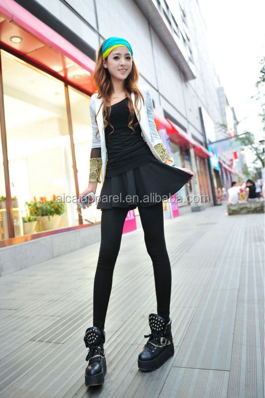 Wholesale 2014 Fashion New Hot Sale cotton tight women girls sexy skirt leggings with skirt
