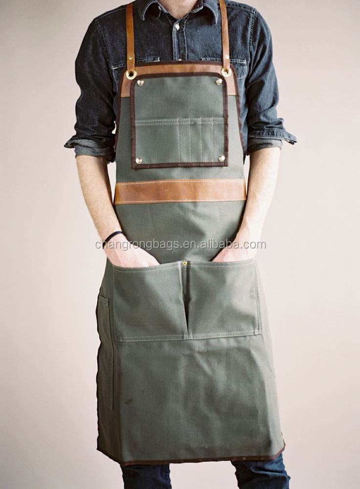2014 High Quliaty And Heavy-duty Canvas Leather Apron For Men ...
