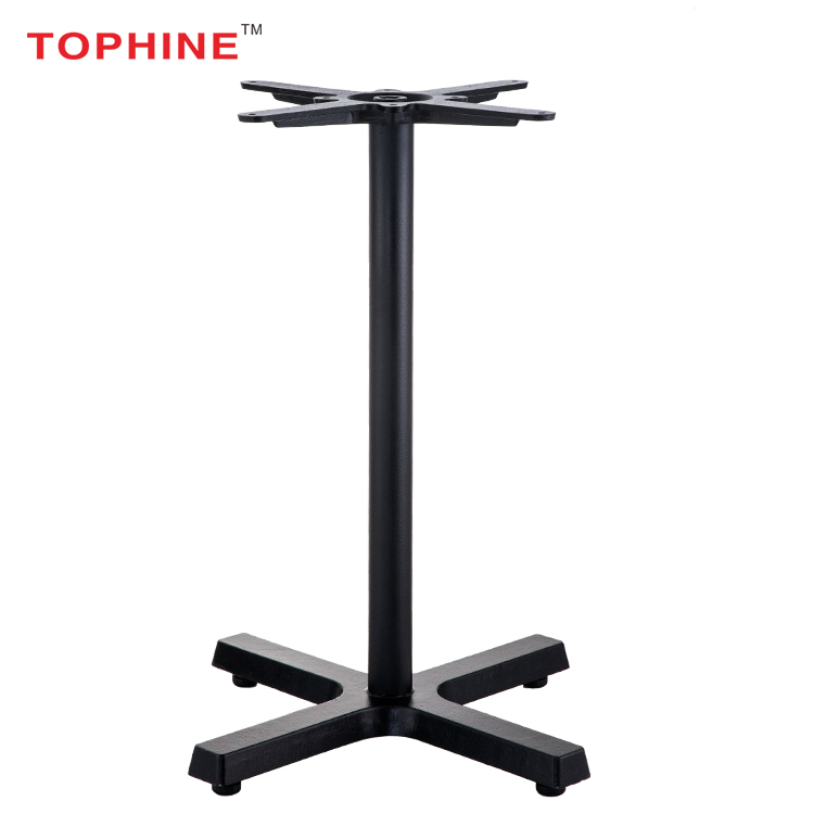 TOPHINE Furniture FLAT Self-Stabilizing Used Restaurant Cast Iron Table X- Base