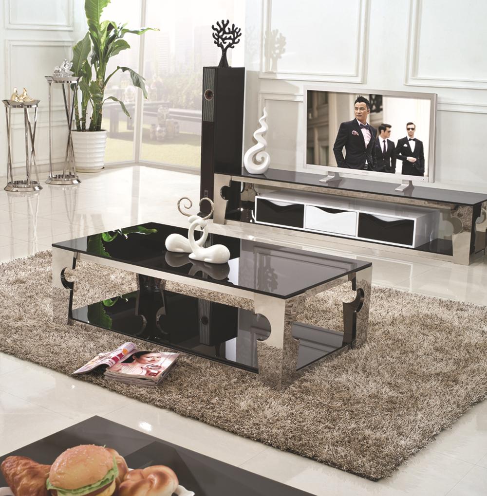 C336 Modern Tempered Glass Tea Table Living Room Furniture