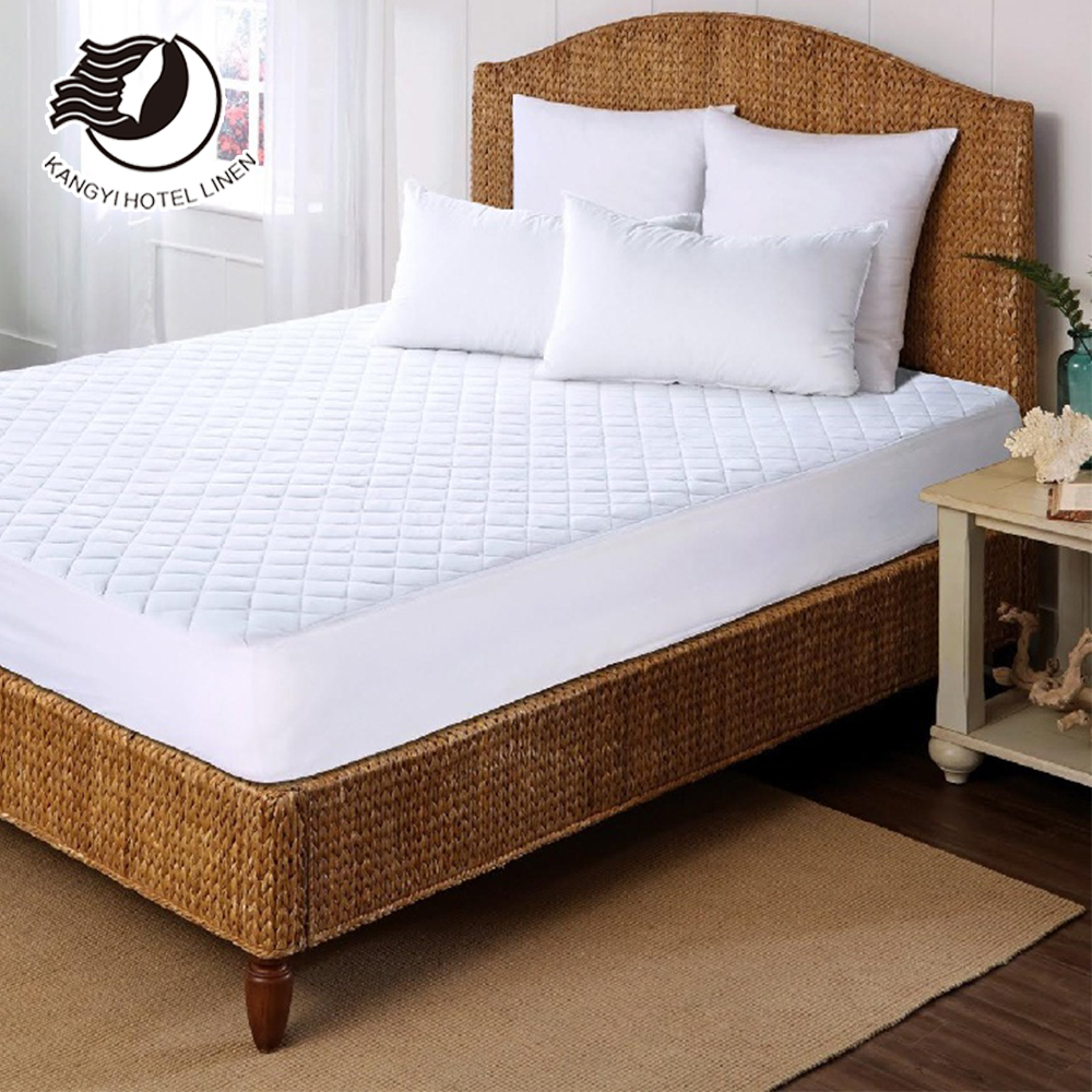 cotton fabric polyester fiber elastic mattress protector