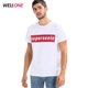 Wellone fashion low price promotion custom design your tee 100% cotton men white cheap t shirt printing