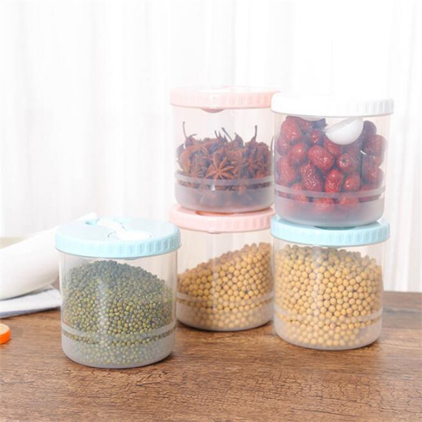 Hot sale round plastic food storage containers dry food cereal fridge container box kitchen storage disposable