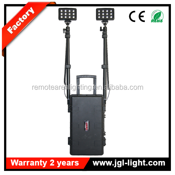 feurwehr light portable military police protection equipment rechargeable battery handheld remote area LED work light system New 72W 4000Lm Model RLS-72 Military Police equipment<strong><span style=