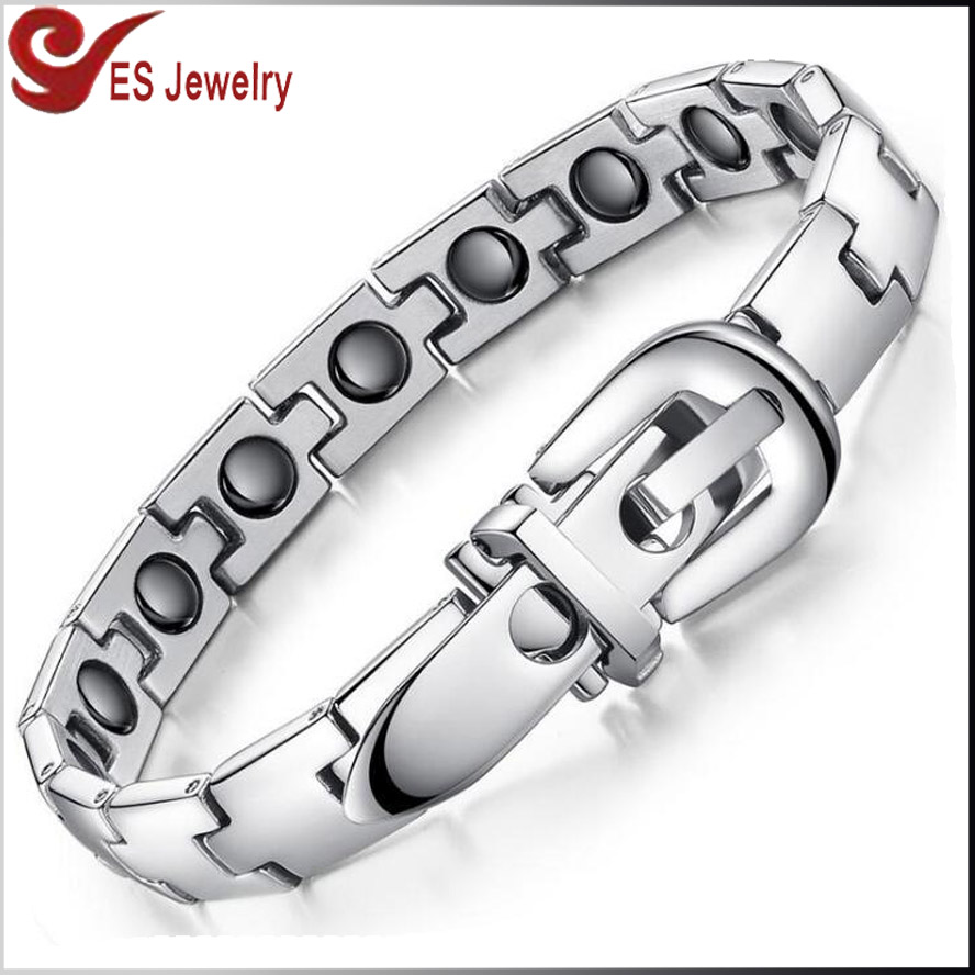 Top Quality Fitness Stainless Steel X Power Energy Bracelet, Infrared ION Germanium Stone Mangetic Bracelets for Women and Men