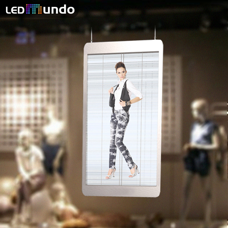 63 Inch P3.75 Outdoor Transparent LED Display Screen poster Full Color window display Pantalla led Crystal