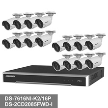 Inglese Hikvision Ds 16CH 4 k POE NVR KIT DS-7616NI-K2/16 p + 16 pz 4 k <span class=keywords><strong>IP</strong></span> Della Macchina Fotografica 4 tb <span class=keywords><strong>HDD</strong></span> Opzionale DS-2CD2085FWD-I