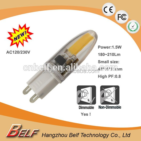 1.5w Dimmable Silicone G9 Led <strong>Bulbs</strong> 2700K 4000K 6000K CE& RoHs Approvals