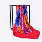 Women's Satin Square Silk Soft Scarf 90 x 90 cm New Style