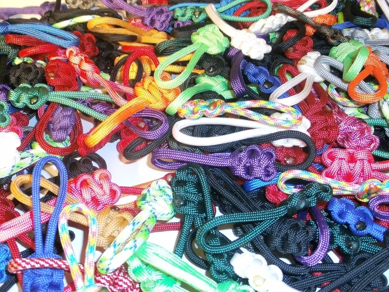 RedVex Paracord Zipper Pulls / Lanyards - Lot of 3 - ~2.5 - Mixed Random Colors