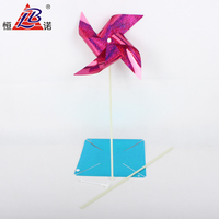 customized children plastic four - leaf clover colorful windmill