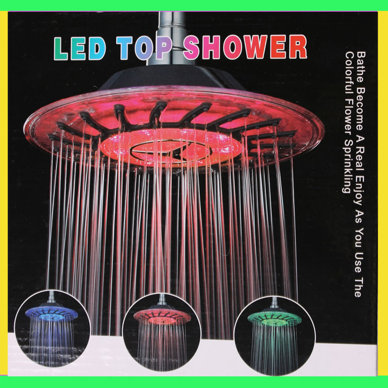 W-B1LED hot selling big color change tempertaure controlled handheld led overhead shower review