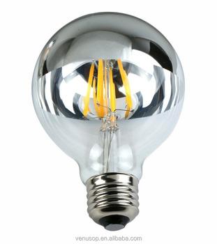 Clair Filament Lampe Demi G25 Chromé Ampoule G125 led Miroir Lampe À Buy G95 D'ampoule Argent Globe Led wiuTkZOPX