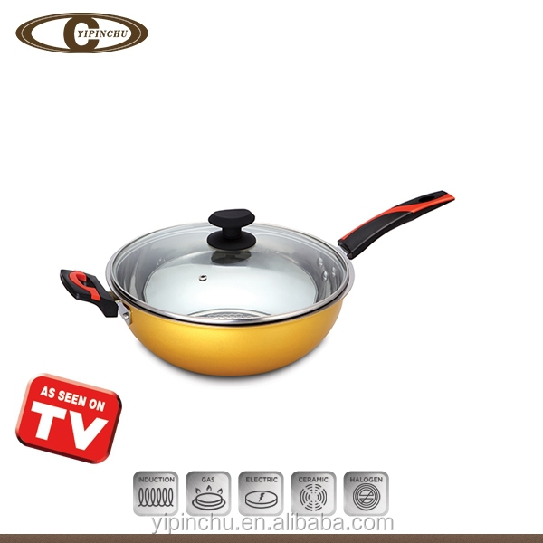 Hot selling aluminum wok with lid