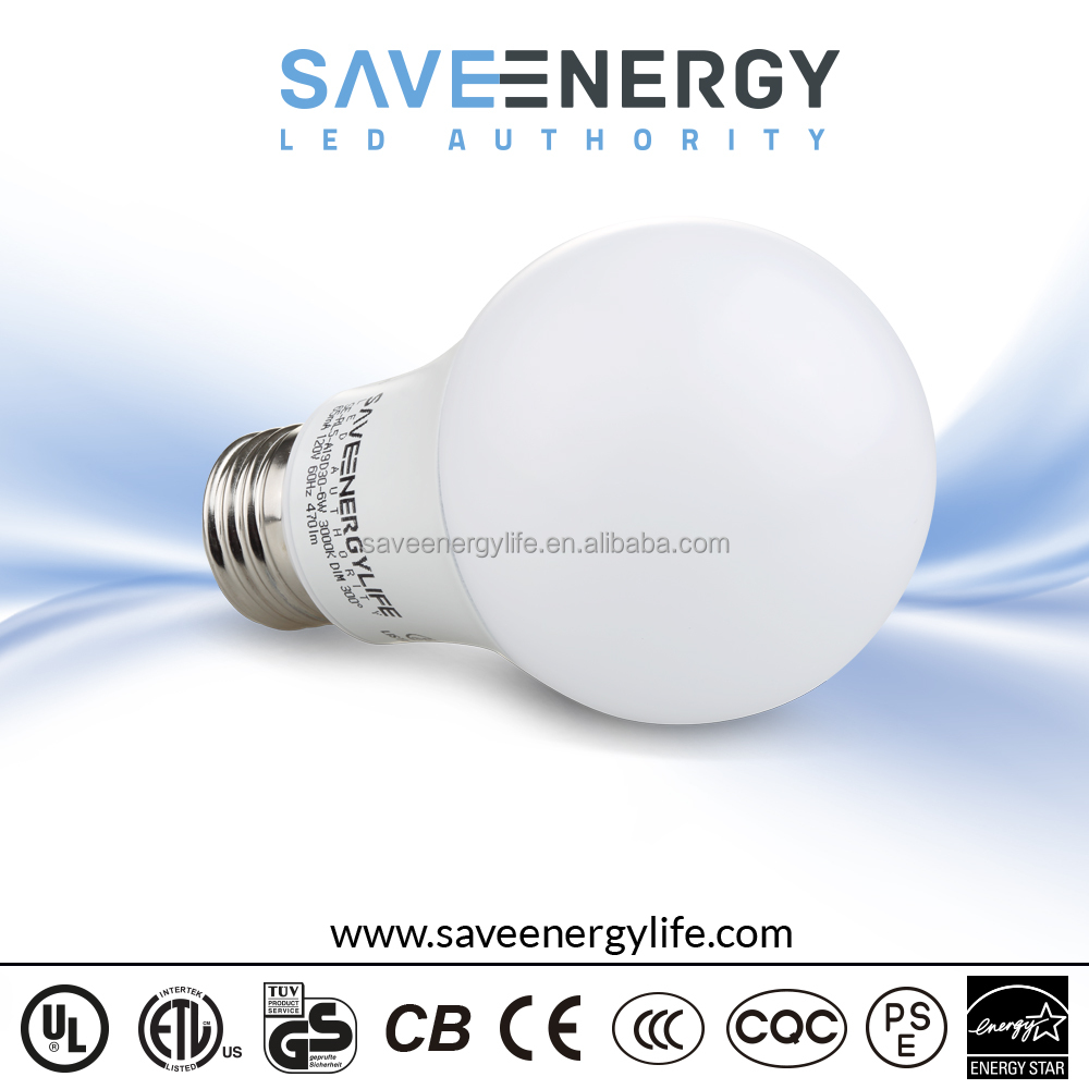 China factory led bulb 9w 6w led residential lighting e26 e27 led bulb light 2000k-6500k