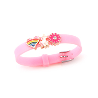 2019 New Arrivals Lovely DIY Pony Charm Silicone Wristband Bracelet for Kids