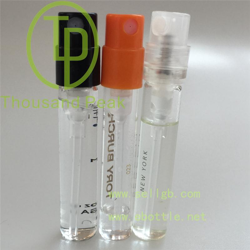 glass spray bottle 2ml small perfume bottle with pump
