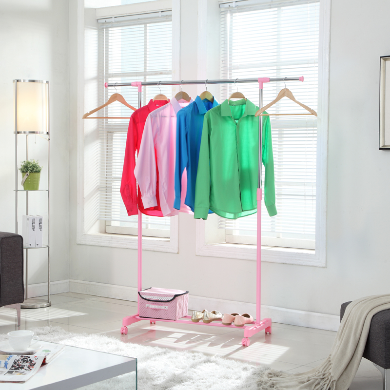XM_127A home telescopic stainless steel movable clothes drying rack