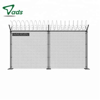 PVC coating black steel gate used chain link fence gates