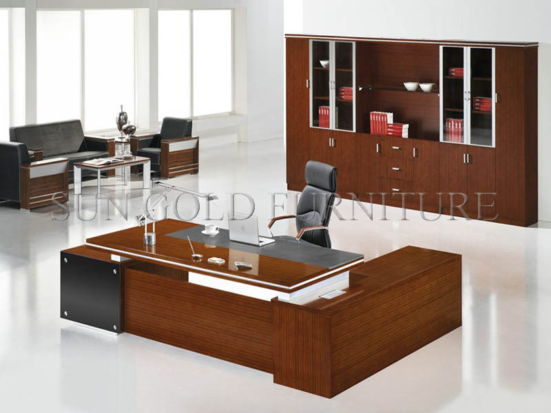 Modern Latest Office Furniture Wooden Desk Clic Table Design Sz