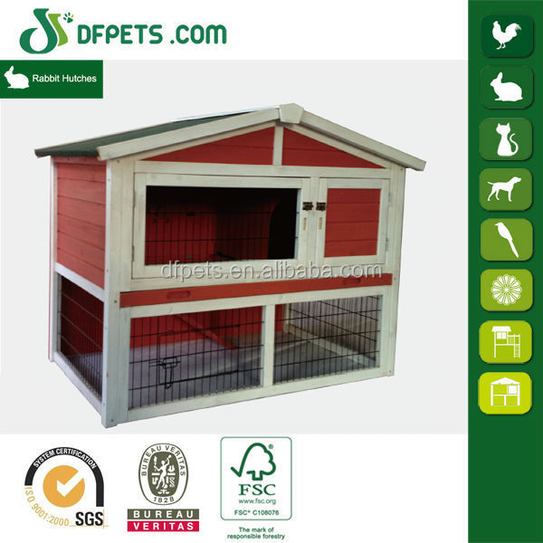 DFPets DFR1207 Medium Animal Hutch for Rabbits or Ferret