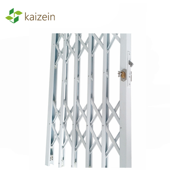 Door protection decorative folding grill expandable security barries