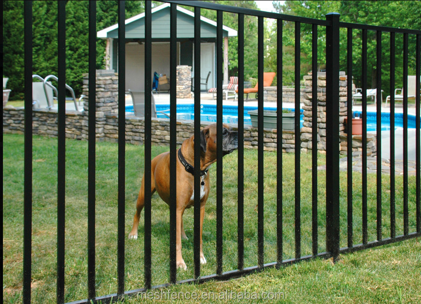 No dig powder coated steel fence panel common in
