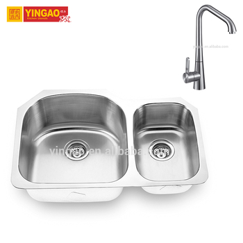 Modern Design Commercial Stainless Steel Granit Double Bowl Kitchen Sink