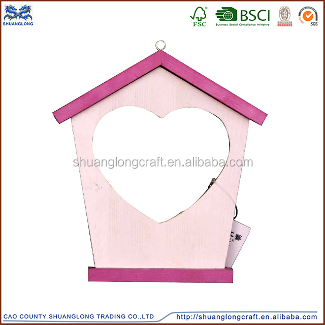 china factory simple desigh paint color plywood wooden photo frame love photo frame