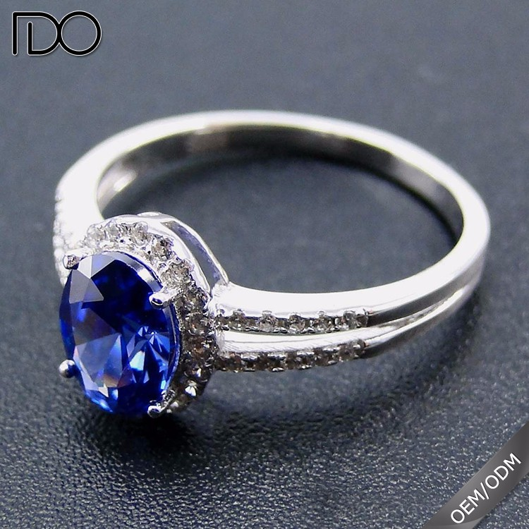 Top grade tanzanite color sette rings