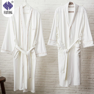 High quality wholesale 100% cotton robe,bathrobe with embroidery logo