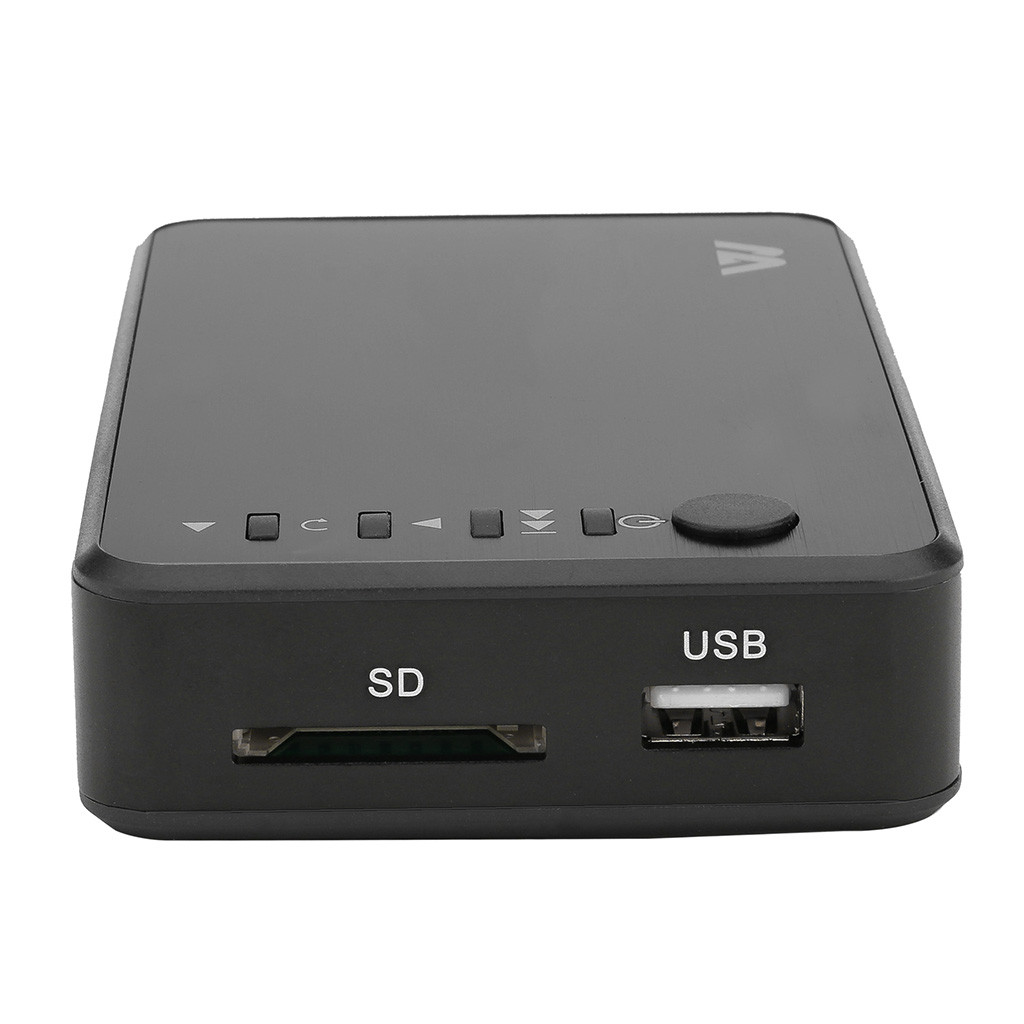 Mini 1080 P Full HD Multi Media Player TV BOX 3 Uscite/VGA/AV USB e SD Card HDD Player Media Player Centro di + Telecomando