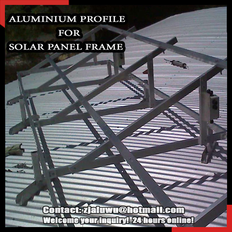 WOW !! Anodized aluminum solar panel frame materials /anodized aluminum panel/aluminum profile for building profile