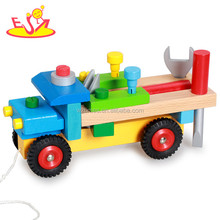 Wholesale diy assemble children wooden tools car toy for sale W03C022