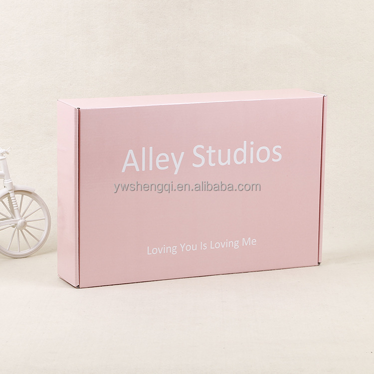 Pink custom printed colored corrugated <strong>boxes</strong> corrugated mailer box