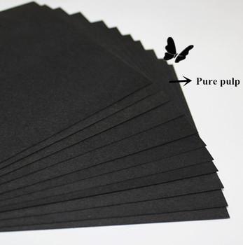 Black writing paper