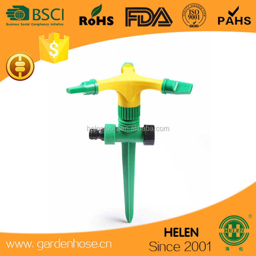 Adjustable three-arm sprinkler decorative garden sprinkler