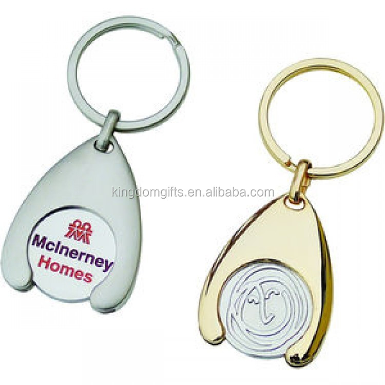 wishbone trolley coin keyring, trolly token coin key ring with holders