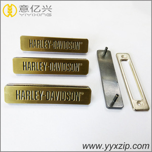 wholesale price brushed bronze plate ink-filled logo custom name plate maker
