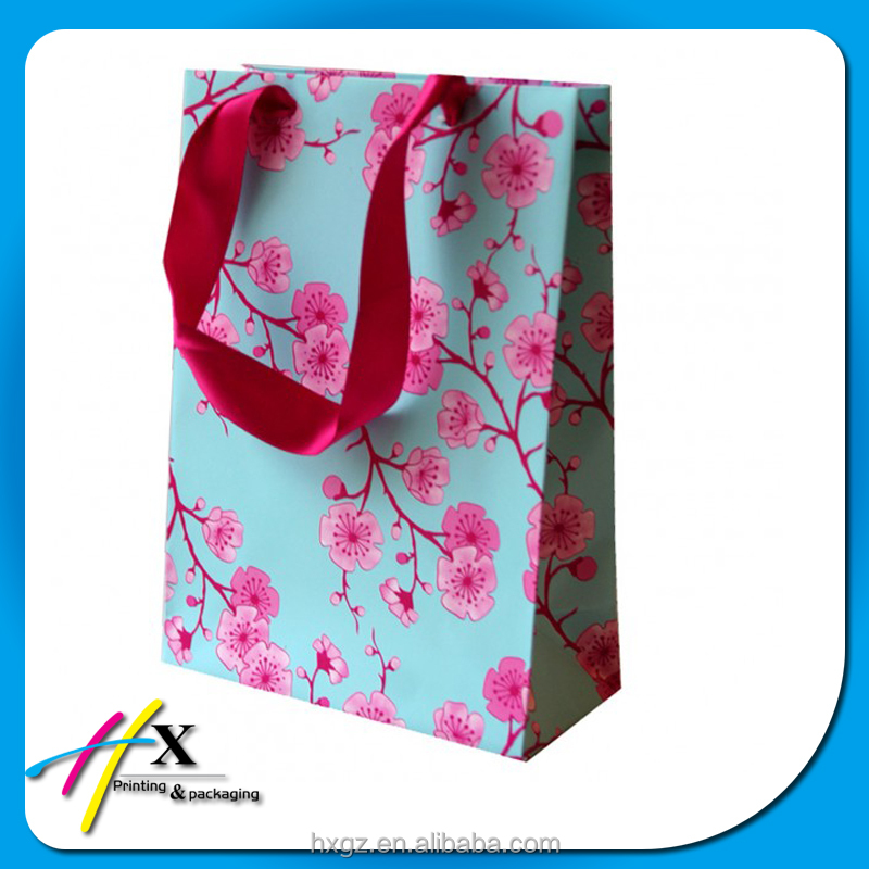 floral fresh rural style paper bag packaging valentine birthday gift