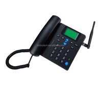 Best selling Hotel Telephone sim card gsm fixed wireless desktop phone with MP3 MEMORY CARD SLOT
