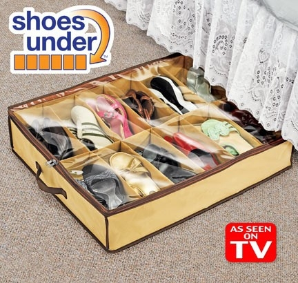 12 Grids Foldable Cardboard Underbed Shoes Storage Organizer