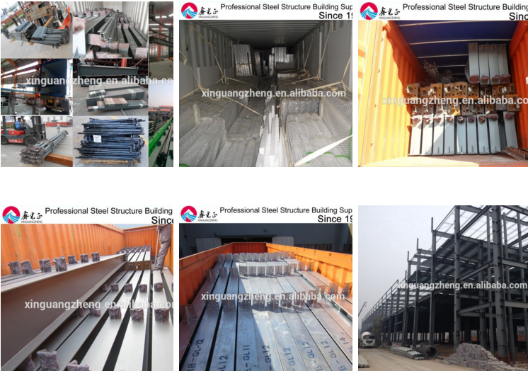 CE certification famous light steel structure by prefabricated factory steel structure building