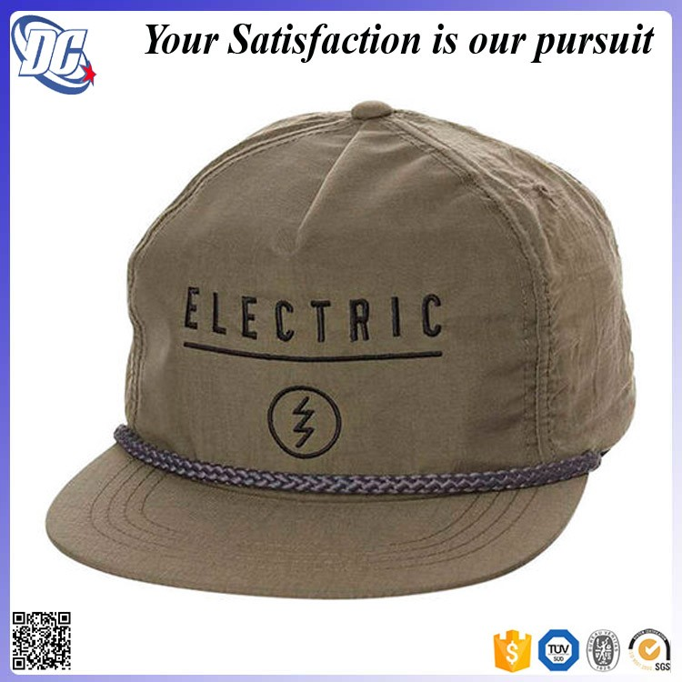 Stylish 5 Panel Unstructured Blank Nylon Rope Snapback Cap Hat - Buy ... ac394e90db5