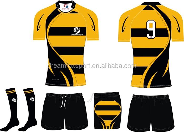 Short Sleeve Rugby Jersey Sublimated Custom New Zealand Shirt Polo Shirts