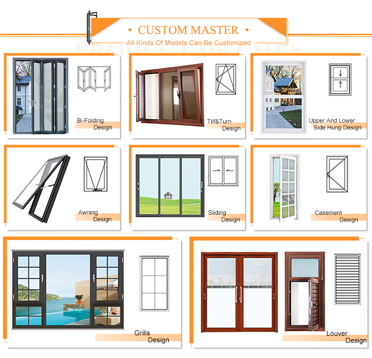 Custom designs commercial aluminum alloy single glass sliding doors and window
