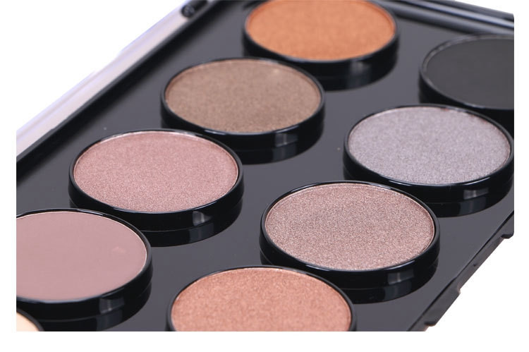 Cosmetics wholesale make up palette 10 color transparent cover eyeshadow palette