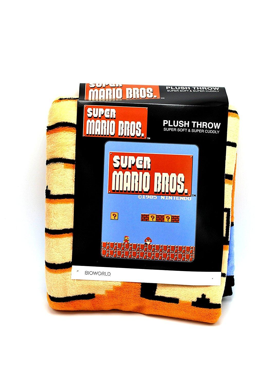 289f7b01e6 Get Quotations · Nintendo Super Mario Brothers NES Super Plush Throw Blanket